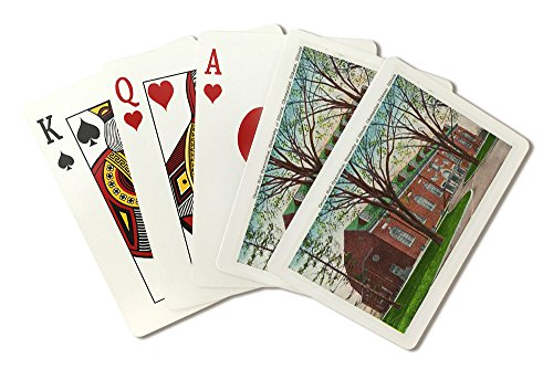 Champaign-Urbana, IL - University of Illinois; Exterior View of the George Huff Gymnasium (Playing Card Deck - 52 Card Poker Size with Jokers)