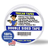 "Double Sided Tape, Secure Your Carpets, Rugs, Tape for Clothes, Fabric, Multi-Purpose, Strong Hold 1"" X 30 Yards"