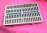 GERMAN STEEL SET OF 5 EACH DENTAL AUTOCLAVE STERILIZATION CASSETTE RACK BOX TRAY FOR 20 INSTRUMENT