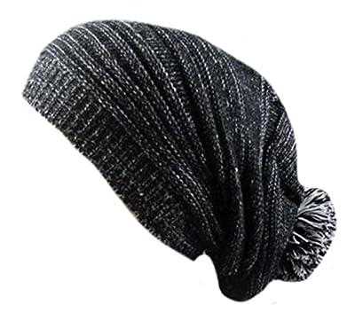 ARRIVE GUIDE Unisex Winter Warm Ski Hat Hand Knit Slouchy Skull Beanie