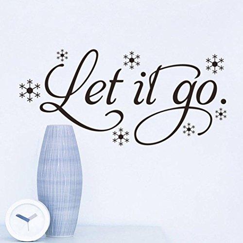 PHOTNO New Let It Go Kid's Room Snow Vinyl Frozen Wall Sticker Home Wall Words Decor