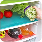 #5: 5 Pcs Refrigerator Mats,EVA Refrigerator Liners Washable Can Be Cut Refrigerator Pads Fridge Mats Drawer Table Placemats,Size 17.6