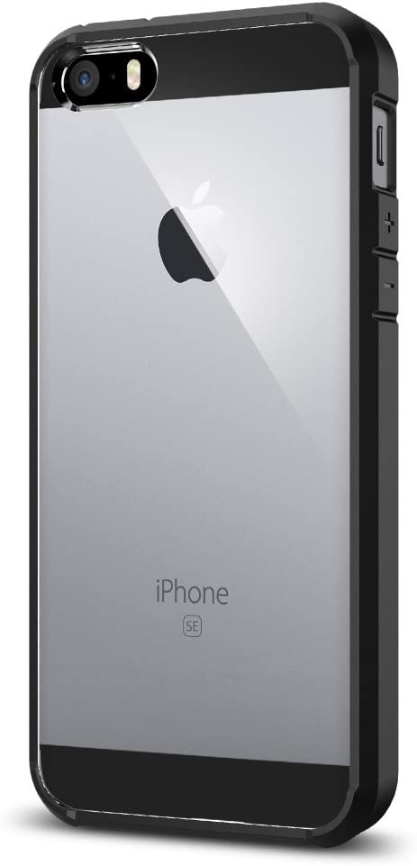 Spigen Ultra Hybrid Designed for iPhone SE Case (2016) - Black