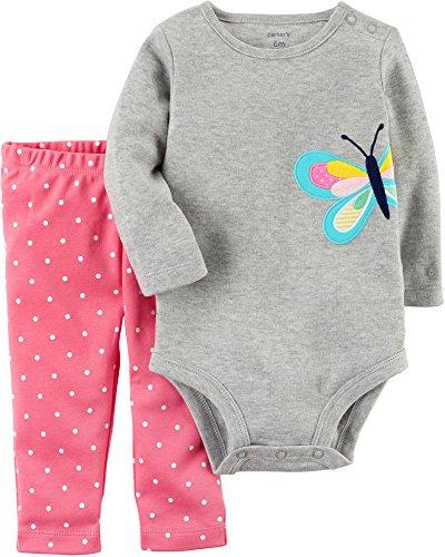 Carter's Baby Girls' 2 Piece Bodysuit and Pants Set Newborn