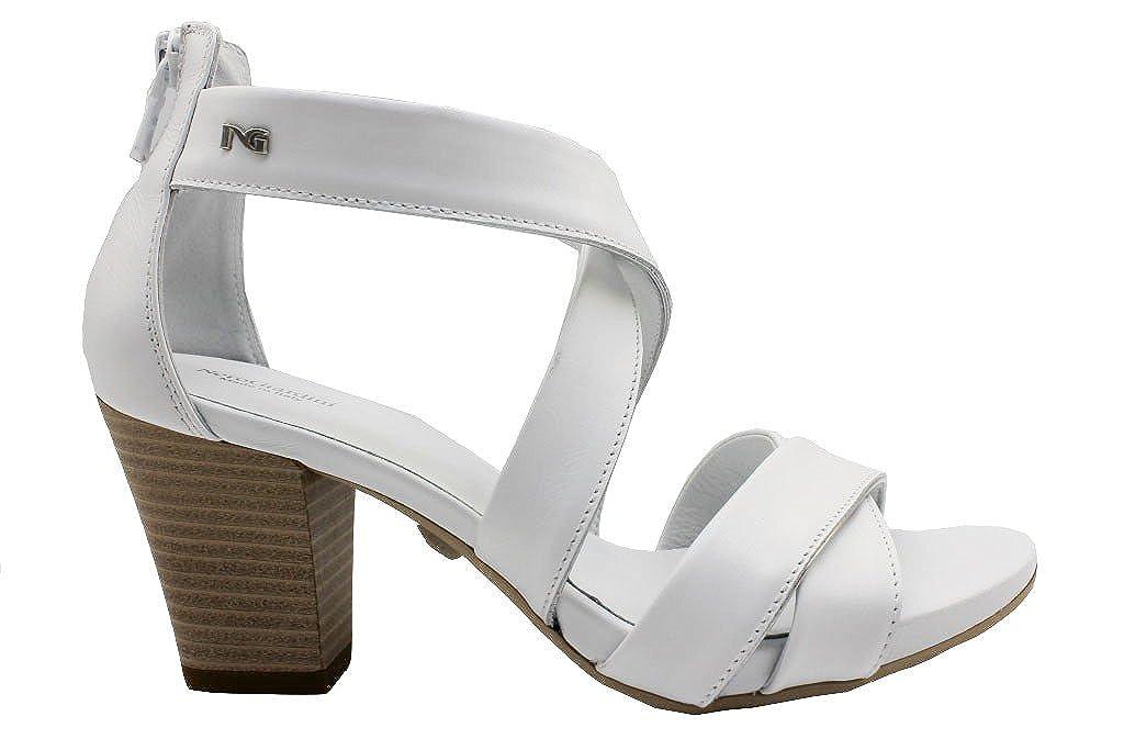 NeroGiardin P805650D Bianco Calzature Sandali Tacco Basso  Bianco