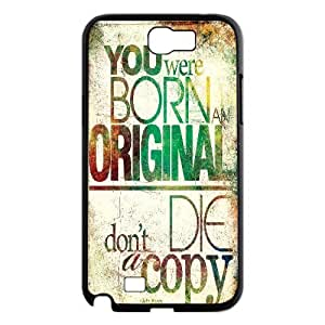 Samsung Galaxy Note 2 Case Stay Strong Quotes You Were Born and Original, [Black]