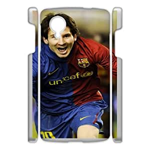 Generic Design Back Case Cover Google Nexus 5 Cell Phone Case White Lionel Messi Ttenri Plastic Case