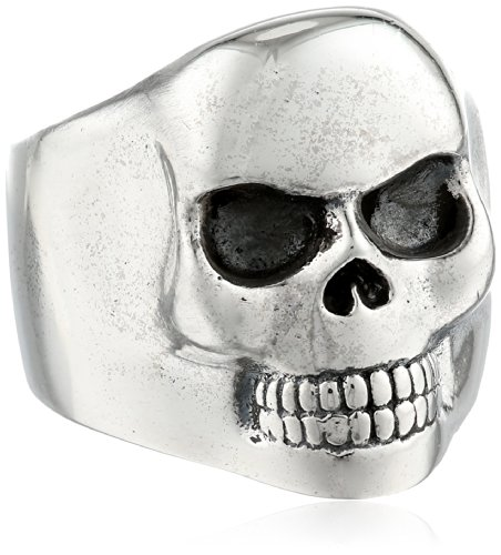 King Baby Small Classic Skull Ring, Size 10