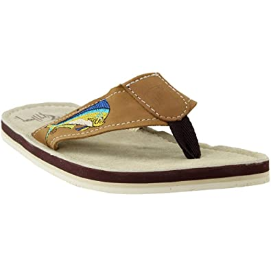 d71d163755d4 Guy Harvey Men s Dolphin Sandals 7 Brown