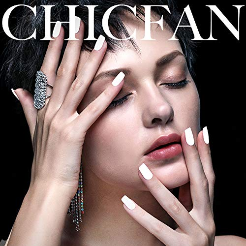 CHICFAN White Acrylic Powder for Nail Extension & Encapsulation - 4.23 oz/Gift Box