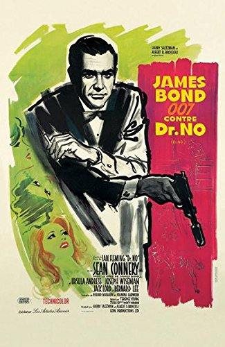 James Bond Dr No French Poster 11x17