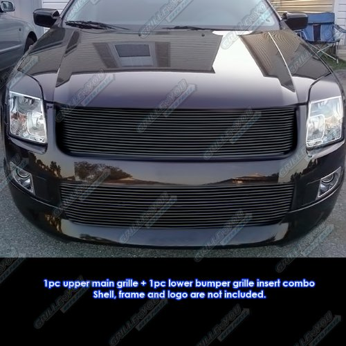 APS 2006-2009 Ford Fusion Black Billet Grille Grill Combo Insert #S18-H15778F