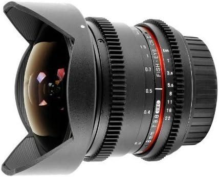 Samyang 8 mm T3.8 VDSLR Manual Focus Video Lens for Canon DSLR Cameras
