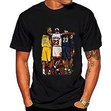 Men's Famous Kobe Jordan James T shirt L Black hot.fashion