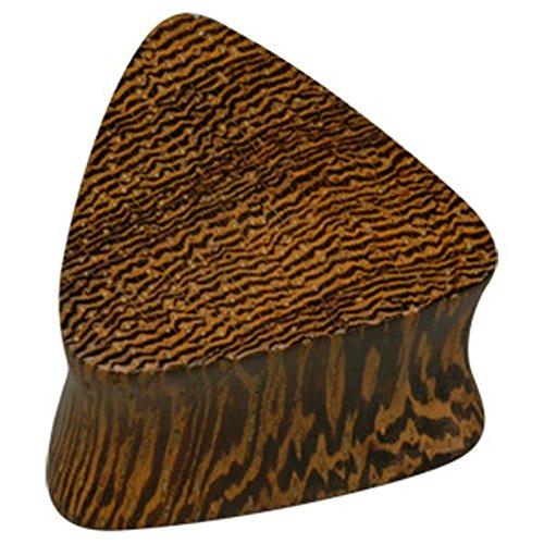 - BodyJewelleryShop Triangular Wooden Flesh Plug - Parasite Wood 18mm