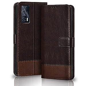 TheGiftKart Dual-Color Leather Finish iQOO 7 5G Flip Back Cover | Inside Pockets & Inbuilt Stand | Wallet Style Flip…