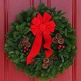 Worcester Christmas Wreath Classic 24-Inch Maine Balsam Christmas Wreath