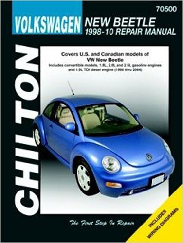 amazon com chilton volkswagen new beetle 98 00 repair manual rh amazon com