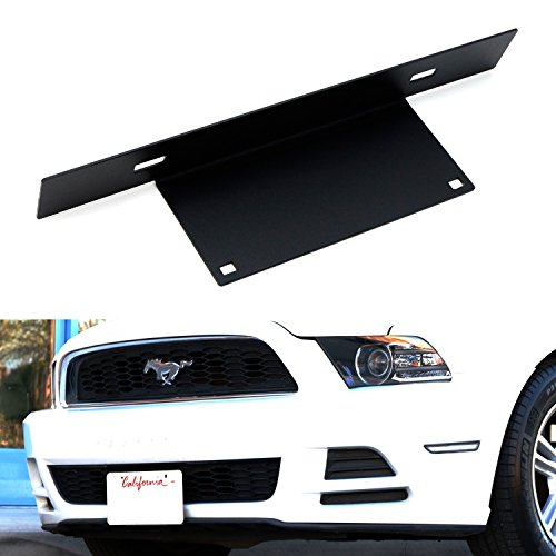 Only Ford Mustang Racing - iJDMTOY No Drill Front License Plate Mounting Bracket Relocator For 2013-2014 Ford Mustang