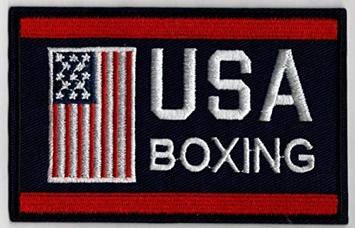 """Boxing Team USA Embroidered Iron-On Patch Size 4"""" x 2 1/2"""". USA Olympics"""