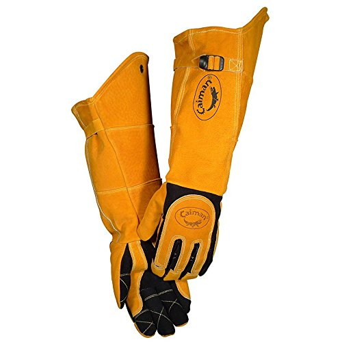 "Caiman 1878 21"" Deerskin Specialty Welders Gloves Size XL (1 Pair)"