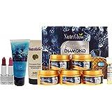 NutriGlow Combo Pack Of 4 : Platinum, Diamond & Gold Facial Kit (260 Gm) + CC Crème + Diamond Radiance Face Wash (65 Ml) + 2 Lipsticks