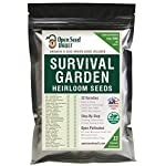 Survival Garden 15,000 Non GMO Heirloom Vegetable Seeds Survival Garden 32 Variety Pack by Open Seed Vault 6 32 Varieties of All Natural Vegetable Seeds: Non hybrid, Non gmo, Heirloom 100% Naturally Grown and Open Pollinated seeds with high Germination Rate Vegetable Growing and Seed Harvesting Guide Included with Seeds Tested for Maximum Germination and Yield.