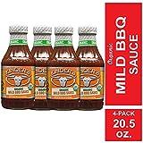 Kinder's Organic Mild BBQ Sauce, 4-Pack; 20.5 oz Each; Smoky-Sweet...