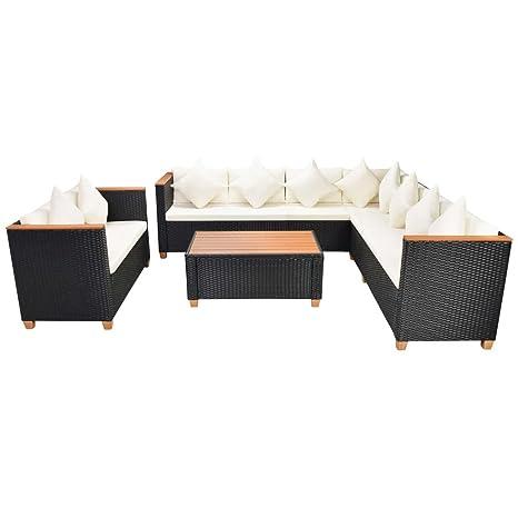 Lingjiushopping Set sofas jardin 31 piezas ratan sintetico y ...