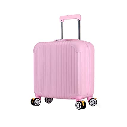 BMHFF Luggage Carry On Luggage with 8 Spinner Wheels Hardshell Lightweight Suitcase with Password Lock Durable Trolley Case Boarding The Chassis 18in for Men and Women International Travel