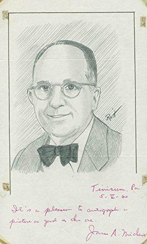 James A. Michener – Original Art Signed co-signed By: John Raitt