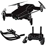 MightySkins Skin For DJI Max Coverage - Solid Black | Protective, Durable, and Unique Vinyl Decal wrap cover | Easy To Apply, Remove, and Change Styles | Made in the USA