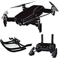 MightySkins Skin for DJI Mavic Air Drone - Solid Black | Max Combo Protective, Durable, and Unique Vinyl Decal wrap cover | Easy To Apply, Remove, and Change Styles | Made in the USA