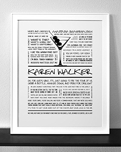 Karen Walker (WILL & GRACE) Typography & Quote Art Print (Frame not - Walker Karen Frames