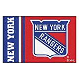 "FANMATS 19271 New York Rangers Uniform Starter Rug, Team Color, 19""x30"""