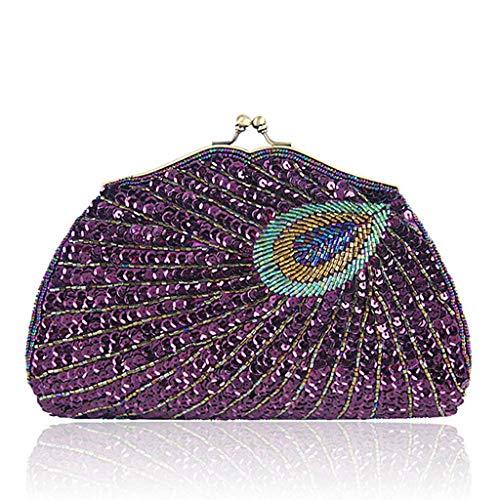 Pochette pour Wanfor Violet champagne Beige femme WTAfwywqO0