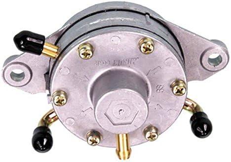 Mikuni Flush Mount Pulse Fuel Pump for Dual Carburetors 35 L//Hr Flow Rate