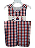 Dana Kids Little Boys Nautical Hand Smocked Shortall 6M to 4T (Nautical, 2T)