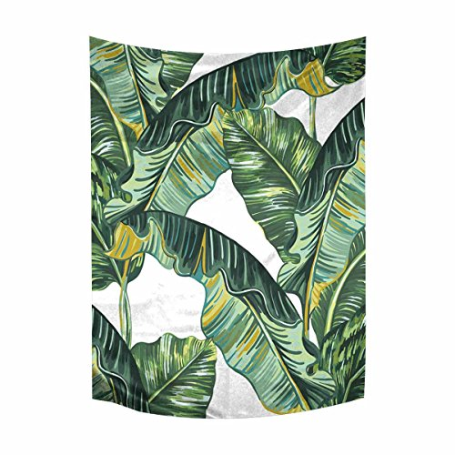 INTERESTPRINT Exotic Tropical Banana Palm Leaves Tapestries