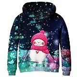 SAYM Big Girls Galaxy Fleece Pockets Sweatshirts Jacket Pullover Hoodies NO38 XS
