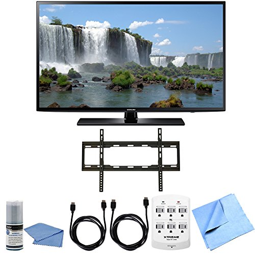 Samsung UN65J6200 - 65 inch Full HD 1080p 120hz Smart LED HDTV Flat Mount Bundle includes 65-Inch HD TV, Cleaning Kit, HDMI Cable 6' x 2, 6 Outlet Wall Tap w/ 2 USB Ports, Mount and Microfiber Cloth