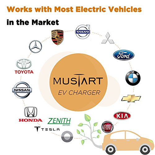 MUSTART 32 Amp 20 Ft J1772 Extension Cord for EV Charger Electric Vehicle Charging Stations by MUSTART (Image #6)