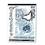 Borden & Riley #110M Technical Vellum Pads 50 Sheets