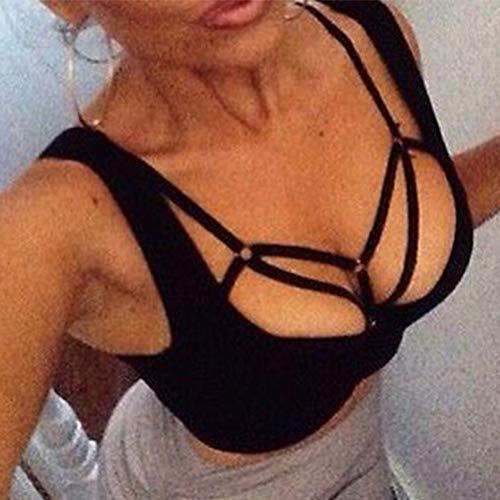 e965cc394afeb Adramata Sexy Lingerie for Women Cage Bra Harness Cupless Strappy Bralette  Plus Size 4 Pcs …
