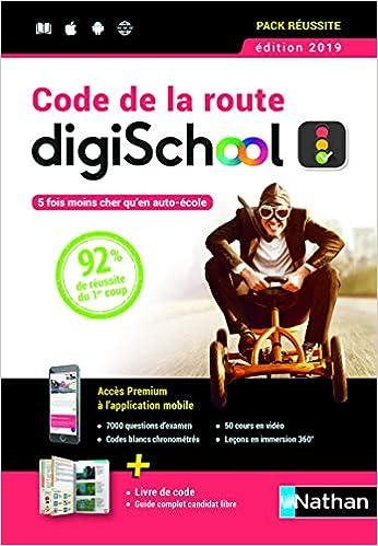 9e7022aab8 Amazon.fr - Coffret Code de la route DigiSchool - 2019 - Thierry Orval -  Livres