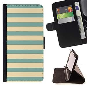 - Queen Pattern FOR Apple Iphone 6 /La identificaci????n del cr????dito ranuras para tarjetas tir????n de la caja Cartera de cuero cubie - yellow teal green blue vignette lines -