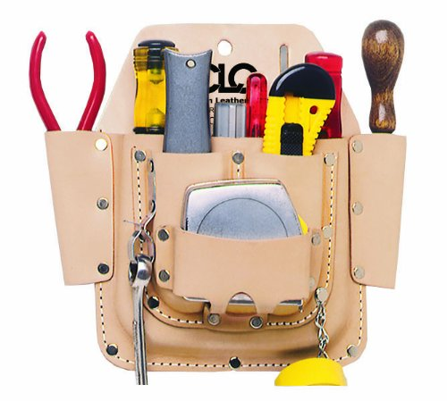 CLC Custom Leathercraft W438 Maintenance Tool Pouch, Heavy Duty, 6-Pocket by Custom Leathercraft