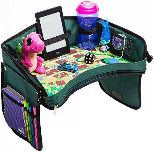 Eating Snake - Premium Kids Car Seat Tray - Bonus SNAKES + LADDERS Game | Reinforced Base + Walls | Detachable Kids Travel Tray | Portable Toddler Travel Stroller Tray | Foldable Baby Car Tray For Kids In Car