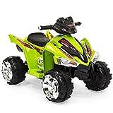 quad four wheeler - Best Choice Products 12V Kids Powered Ride On ATV Quad 4 Wheeler Led Lights, Music (Green)