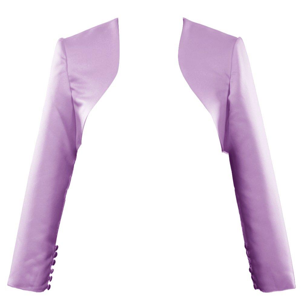 purplec H.S.D Womens Modest Satin Long Sleeves Bolero Shrug
